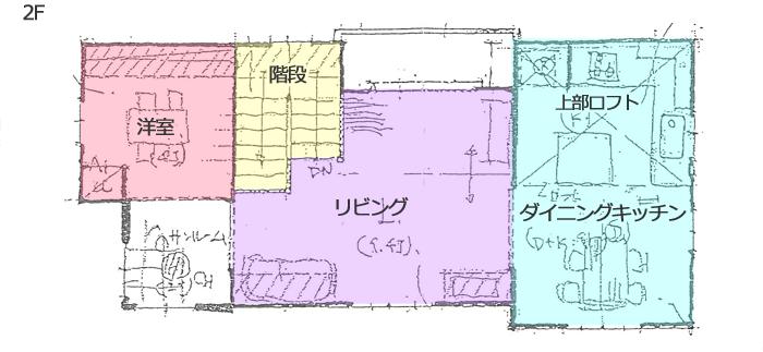 輸入住宅のモデルハウスの案内図